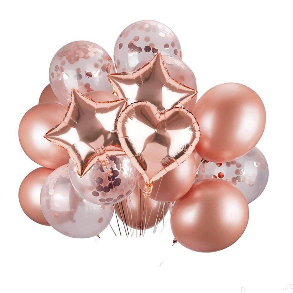 Композиция из шаров розового цвета