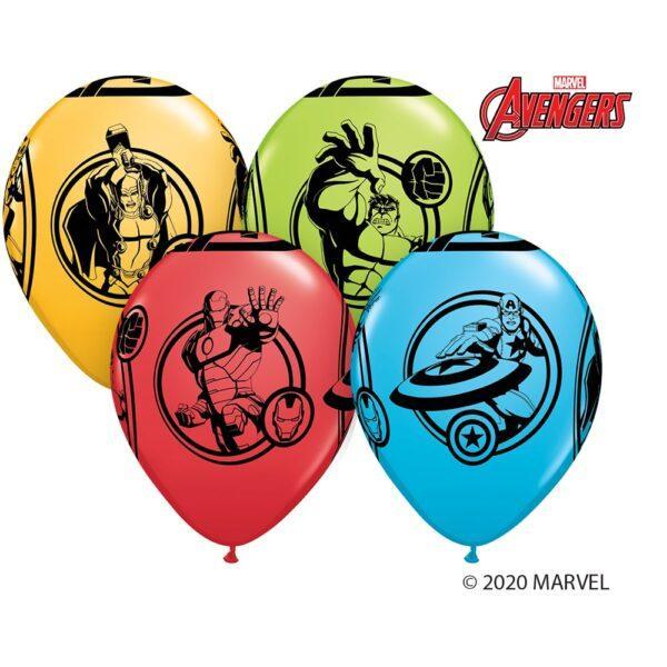 Набор гелиевых шариков супергерои мстители