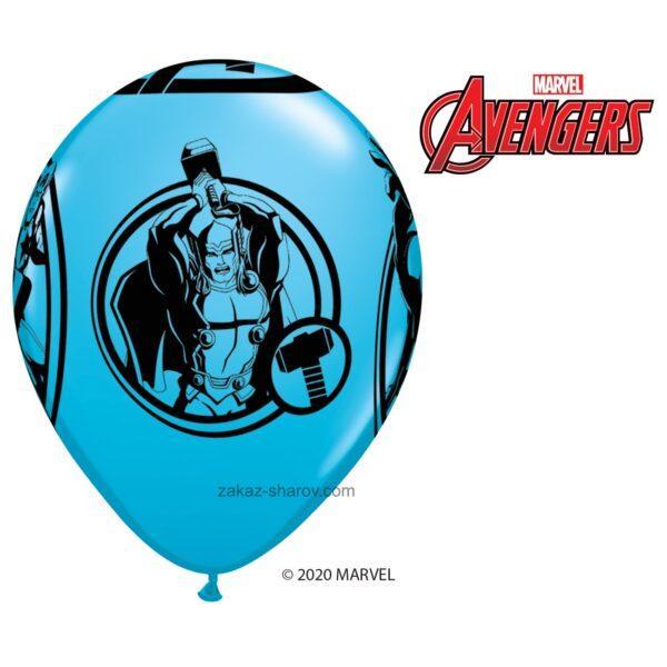 Шарик с принтом супергероев мстителей - Синий