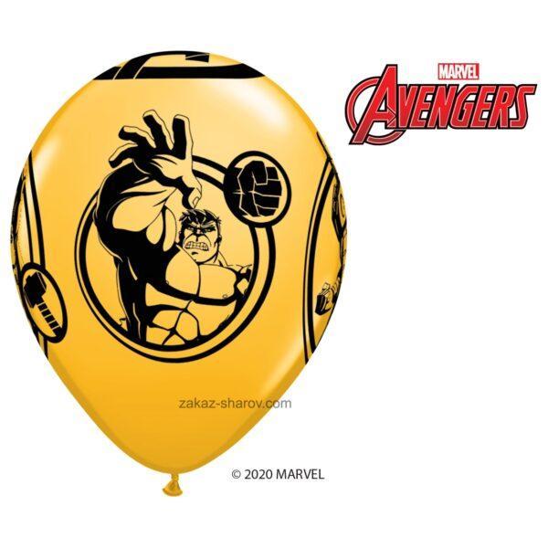Шарик с принтом супергероев мстителей - Желтый
