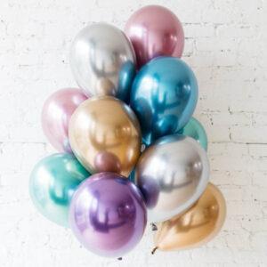 Хромовые Гелиевые шарики