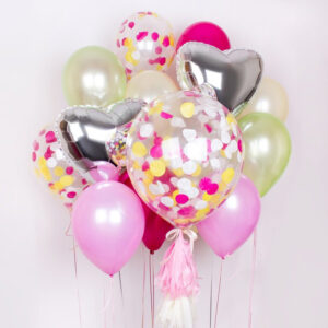 Композиция из воздушных шаров «Влюблённость» N015