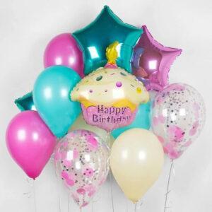Композиция из воздушных шаров «Милый день рождения»