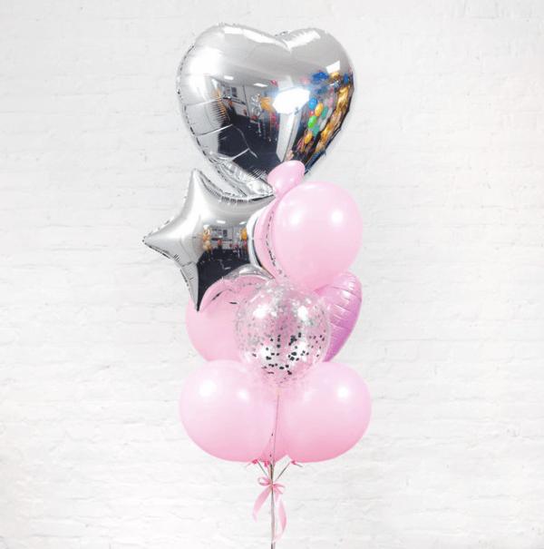 Композиция из воздушных шаров «Лоск»
