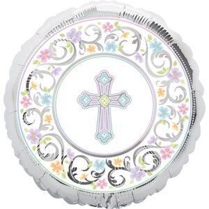 Фольгированный шар с рисунком - крестины