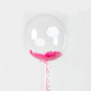 Баблс с розовыми перьями внутри