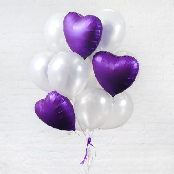Набор воздушных шаров с сердцами