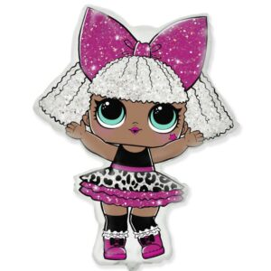Шарик в форме куклы ЛОЛ Дива