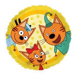 Три кота - шарик фольгированный